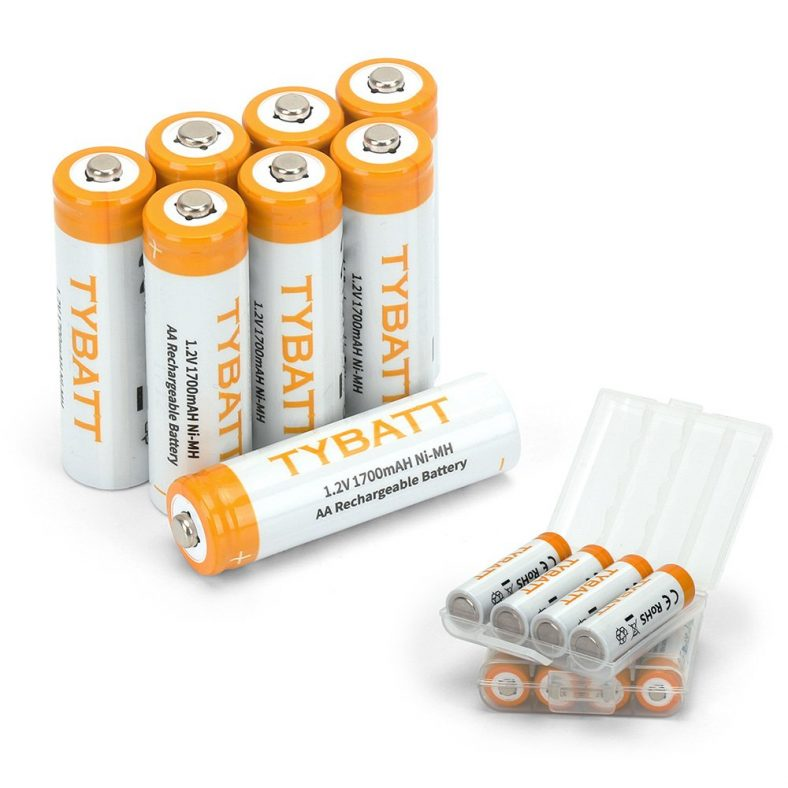 POWERGIANT AA Batteries High Capacity 1700mAh NiMh Rechargeable Battery Pack