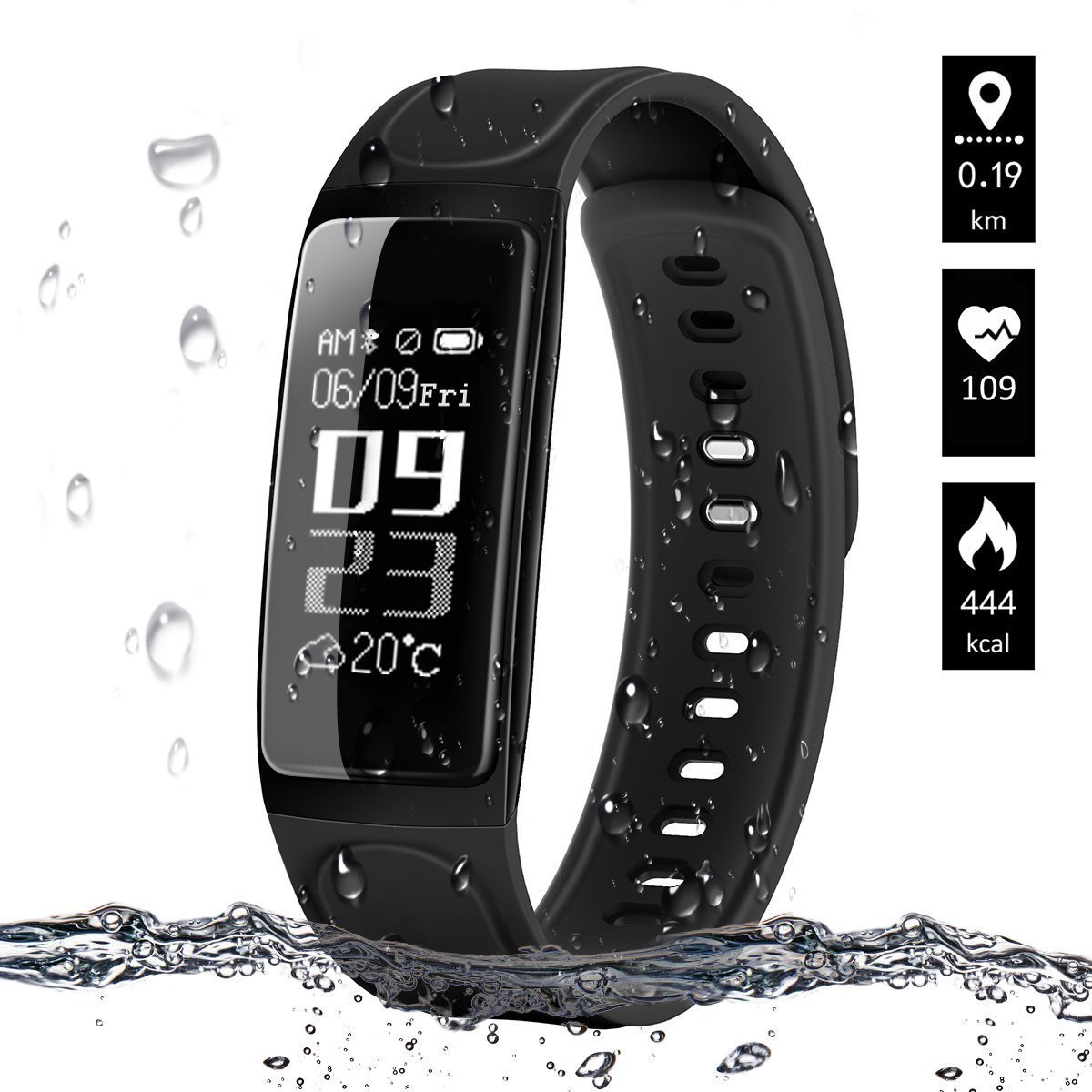 ELEGIANT Fitness Tracker, IP67 Waterproof Activity Tracker Heart Rate Monitor Smartwatch