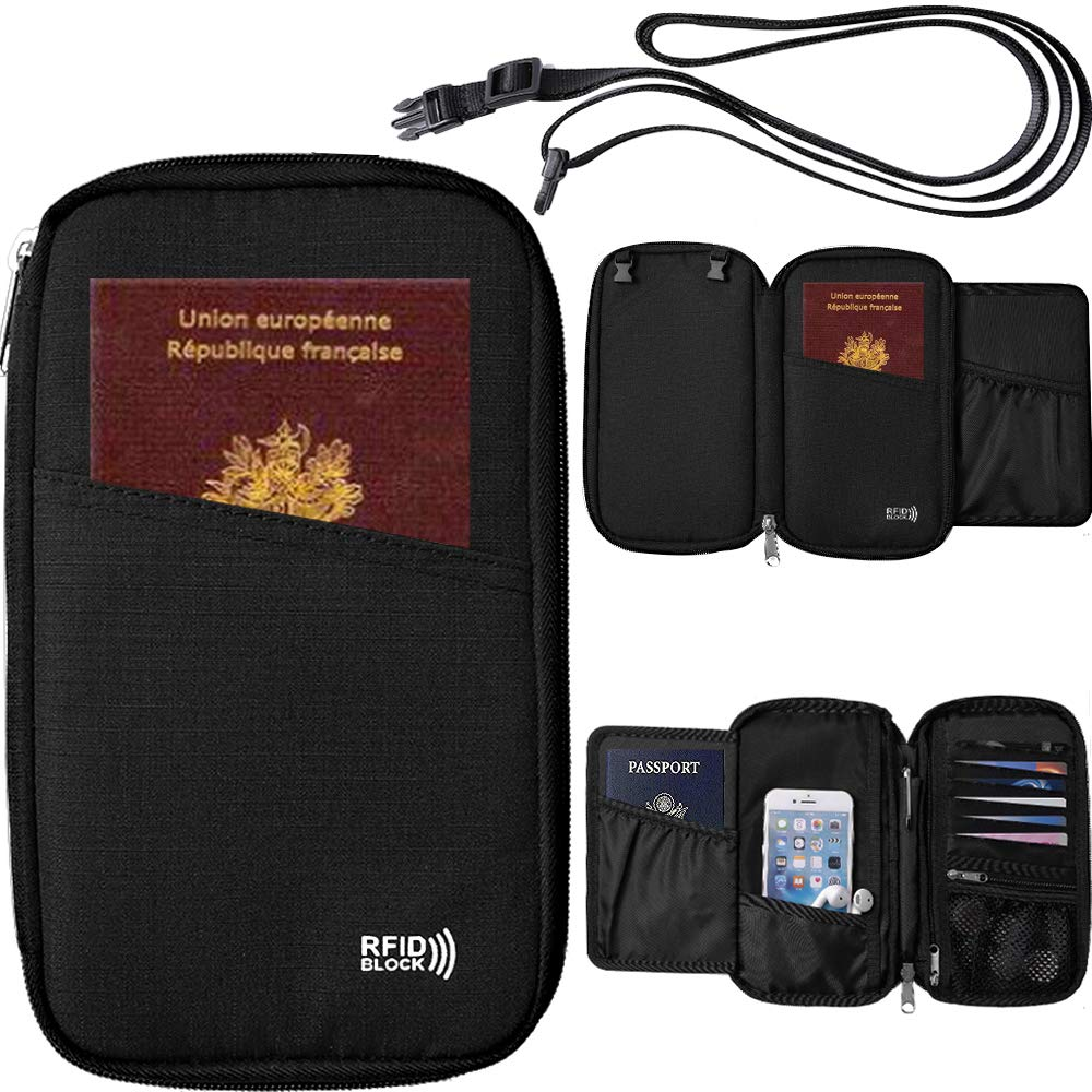 Travel Wallet Passport Holder for Women & Men