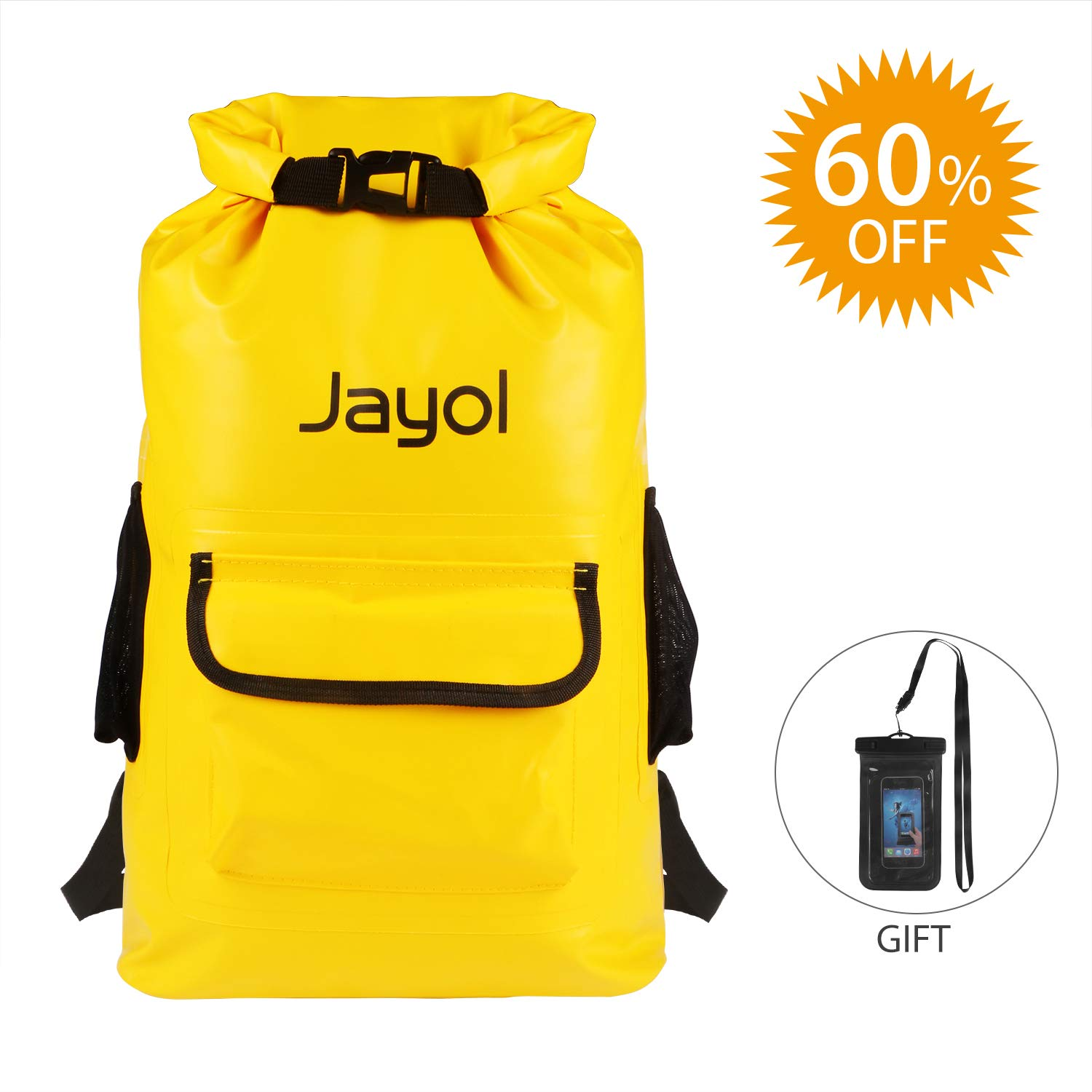 Jayol Waterproof Dry Bags,Sack Backpack with Phone Case, Super Lightweight Bags