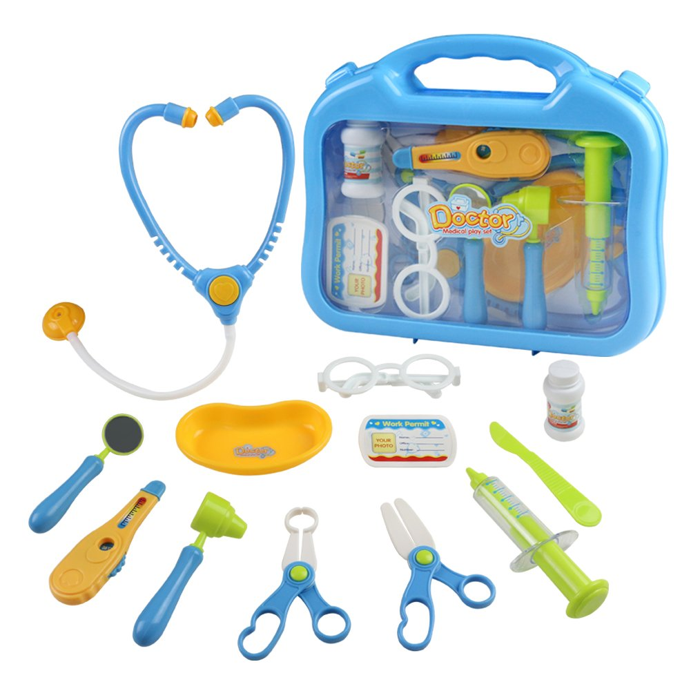 Doctor Kit Toys Kids Medical Pretend Play Game Doctor Set Cute Carrycase