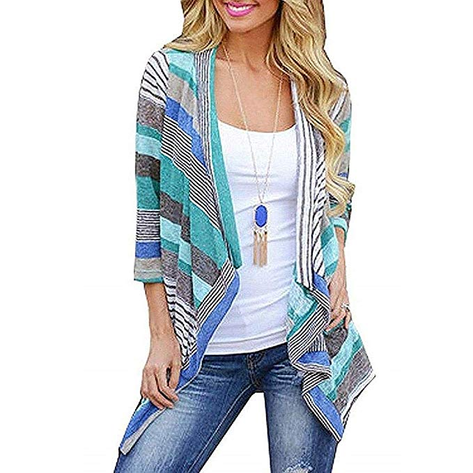 80% off Women Casual 3/4 Sleeve Cardigans S-XL