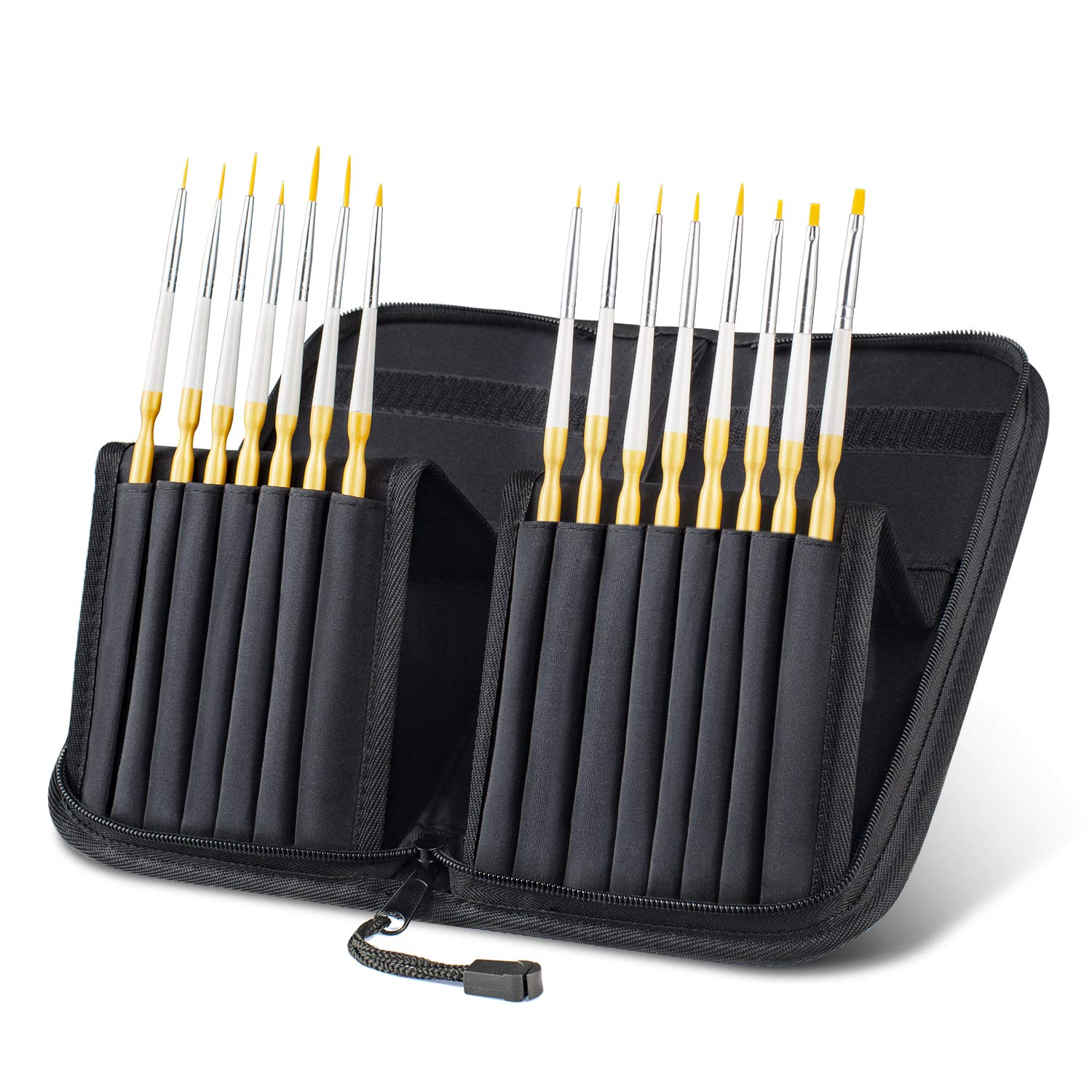 70% off Tdbest Paint Brush Set,15 Pcs Acrylic Paint Brushes Handmade Round Pointed Tip Nylon Hair Brushes