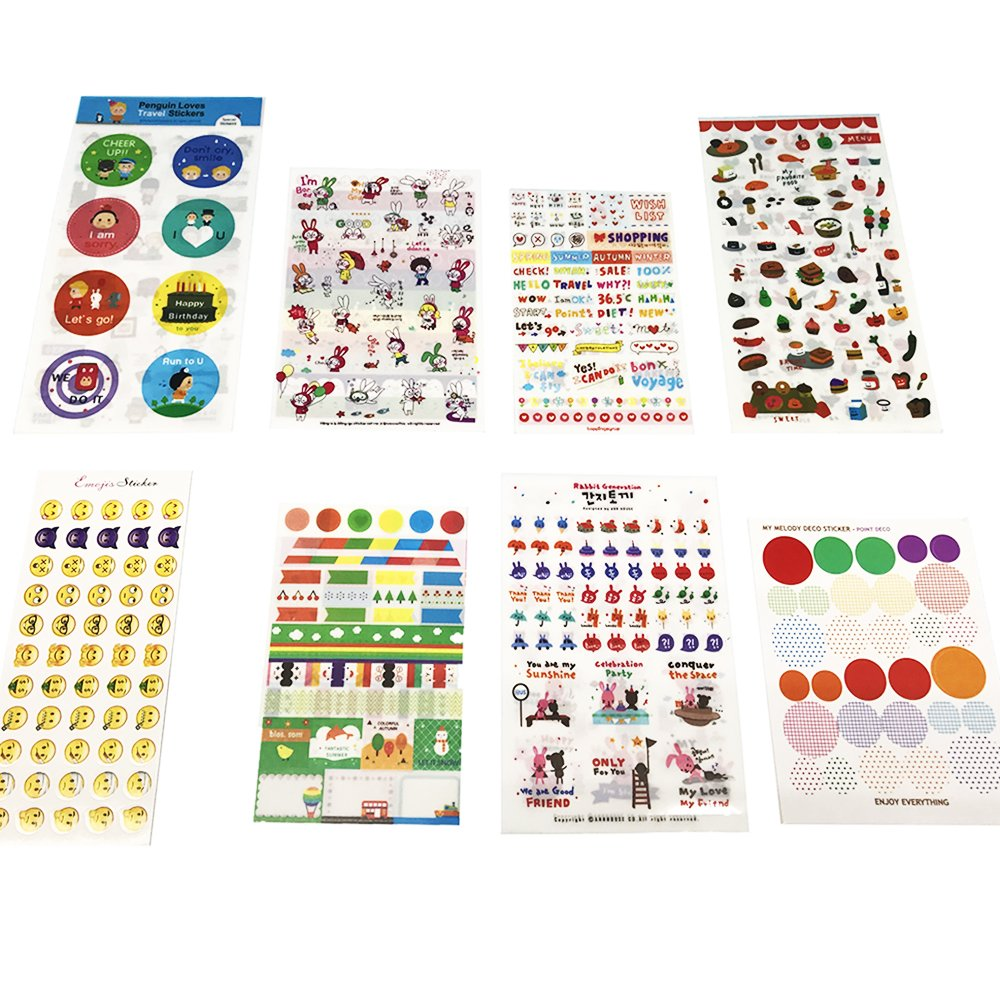 Calendar Planner Stickers Emoji Stickers (Assorted 2962 PCS, 54 Sheets) – Decorative Sticker Collection