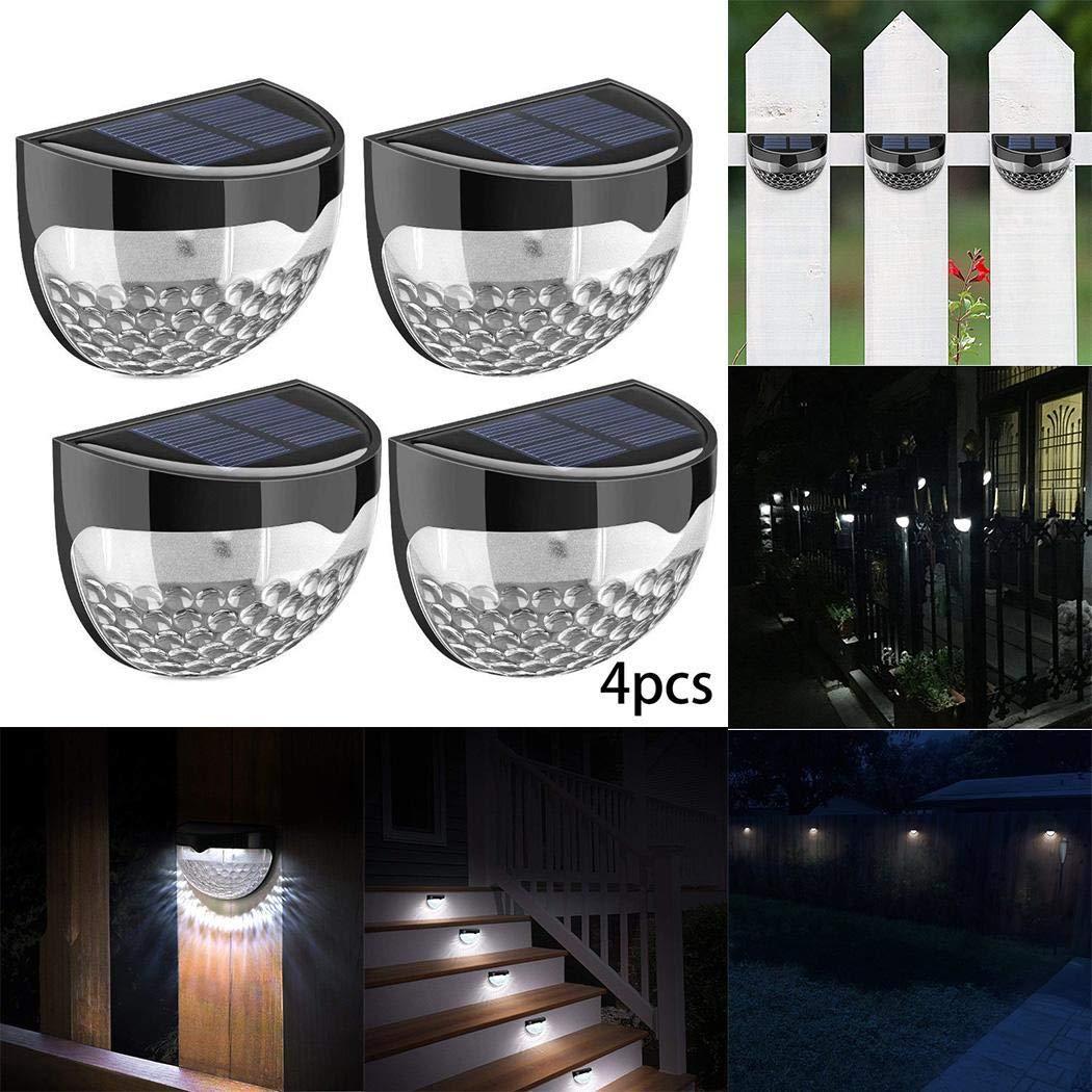 80% off Tiowea LED Solar Wall Light Fence Light Outdoor Waterproof Garden Light Solar Lights