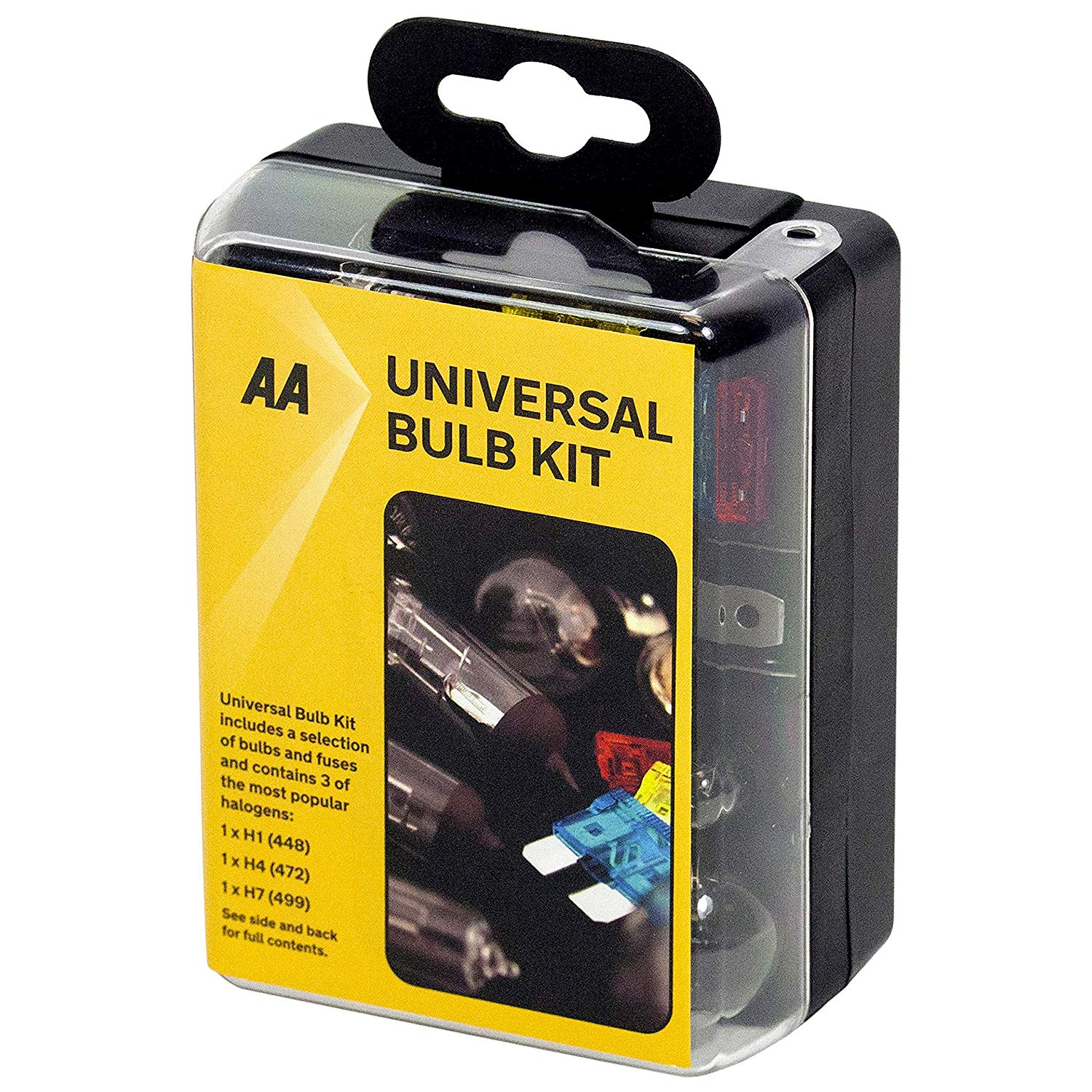 AA Compact Universal Bulb Kit for your car, inc H1, H4 and H7 bulbs(add-on item)