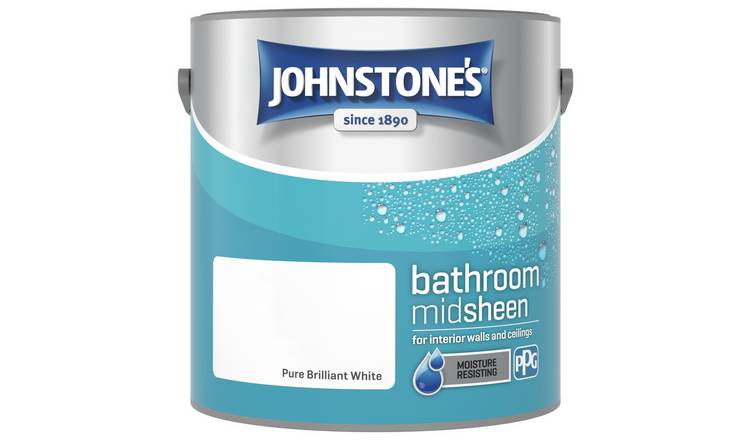 Half Price Johnstone's Bathroom Paint 2.5L – Brilliant White