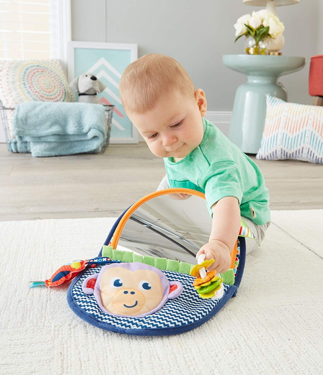 Fisher-Price Monkey Mirror, Suitable from Birth