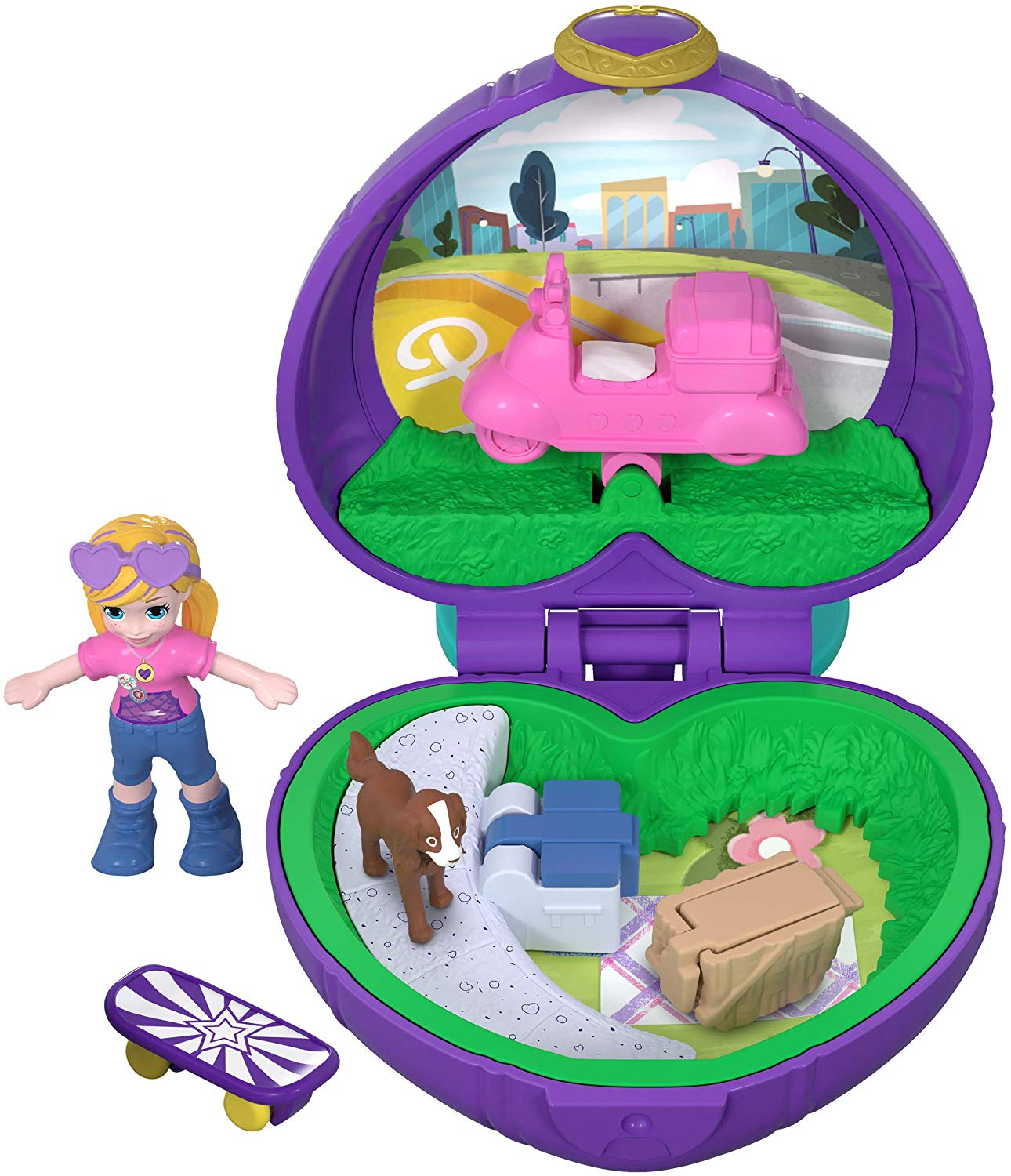 Polly Pocket FRY30 Tiny Pocket Places Picnic Compact Play Set, Multi-Colour