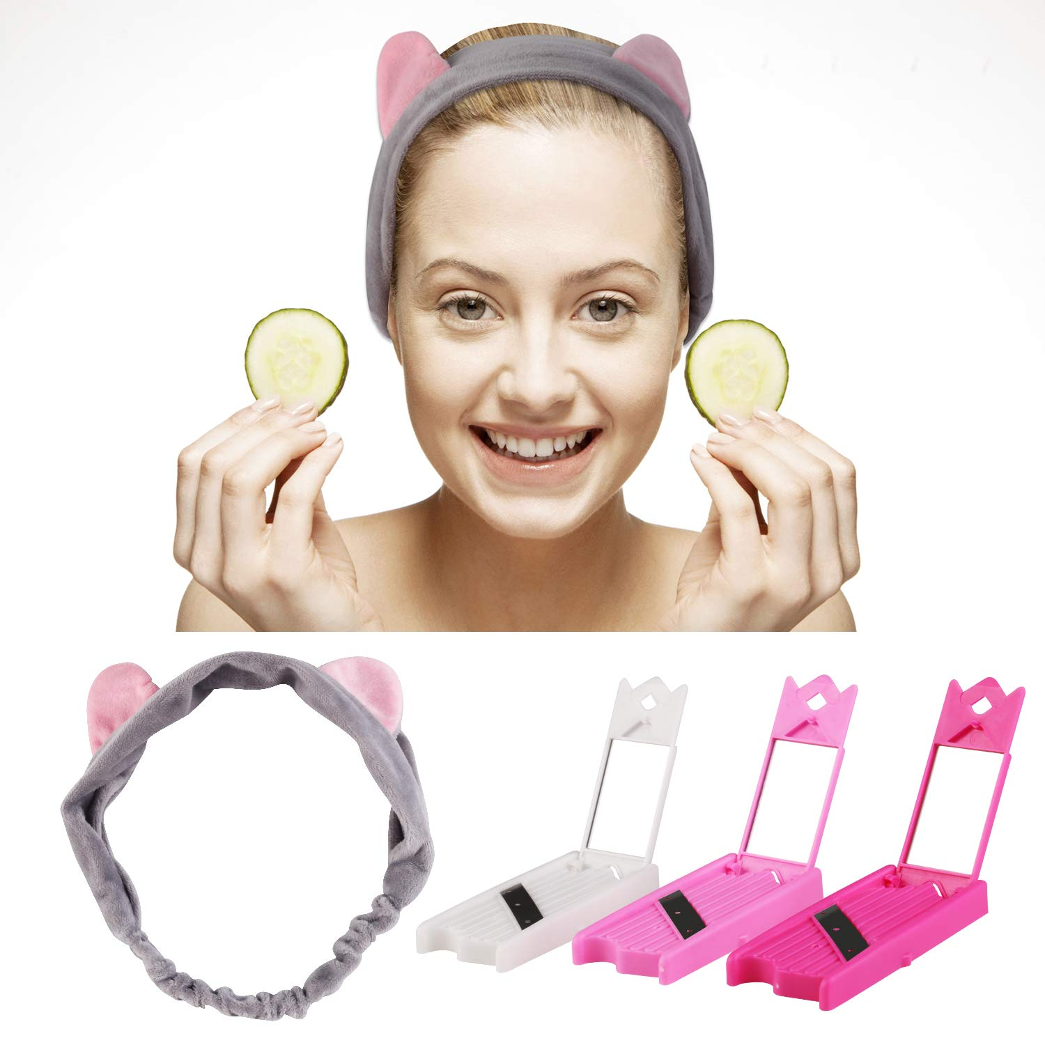 Cucumber Slicer, Beauty Fruit Slicer Multifunctional DIY Facial Mask Beauty Cucumber Cutter