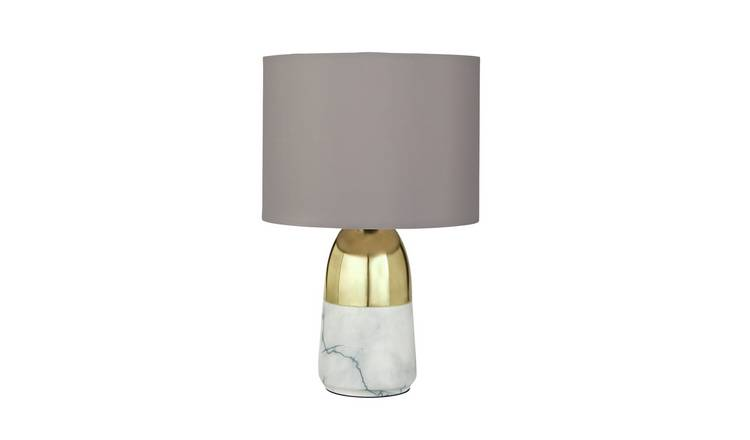 Argos Home Duno Marble & Brass Touch Table Lamp
