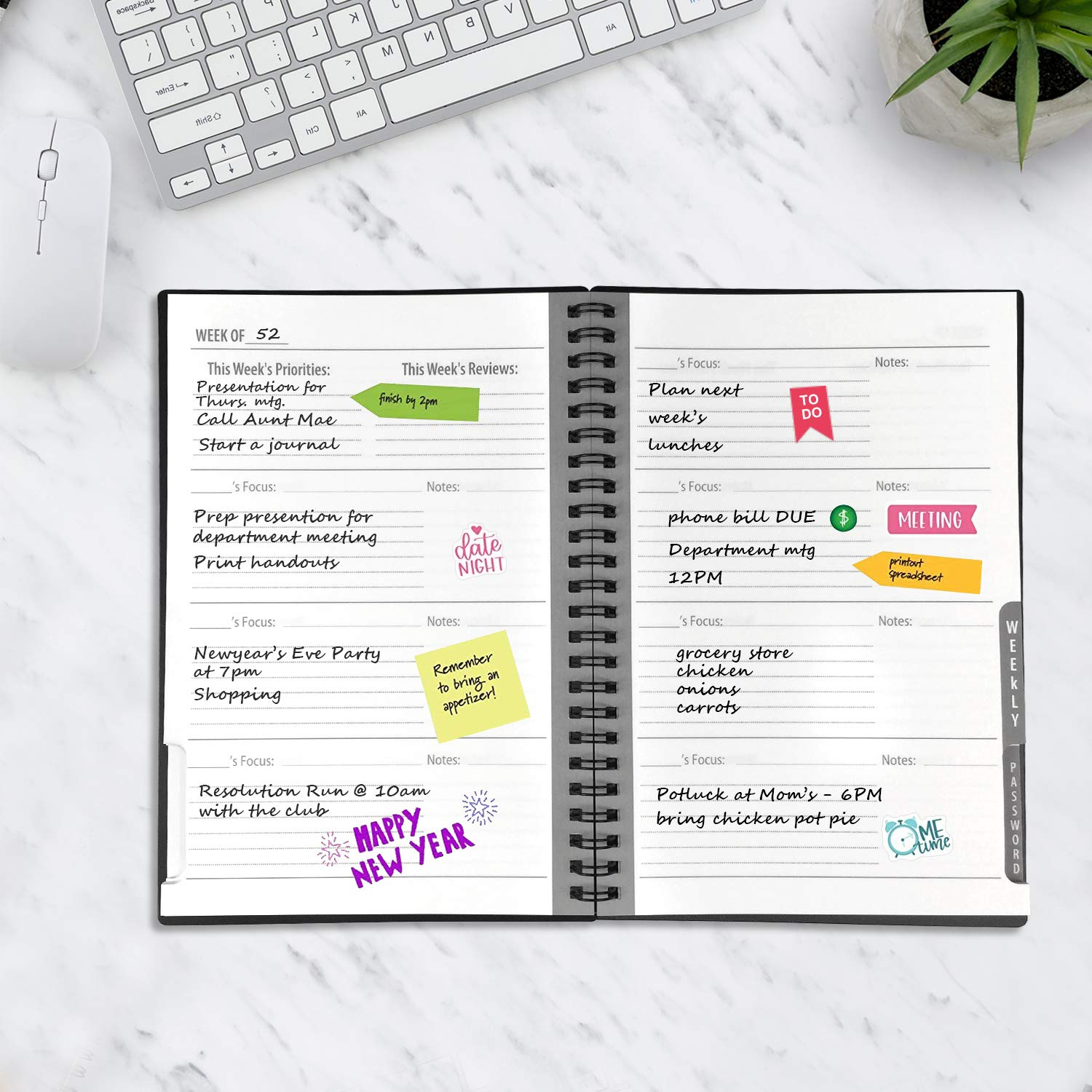 Reusable Planner Notebook, Personal Organizer A5 Smart Notebook Erasable Cloud Storage