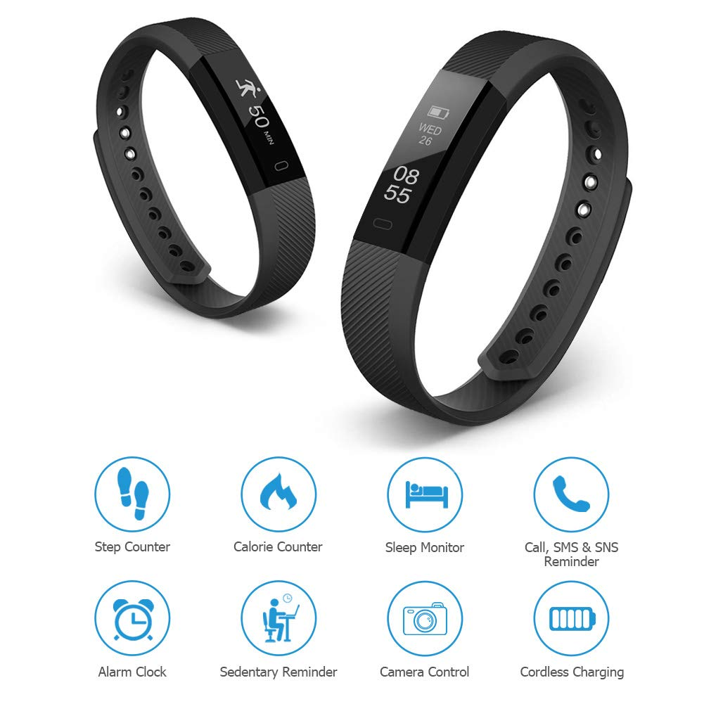 Letsfit Fitness Tracker, Activity Tracker Fitness Smartwatch Wristband Touch Screen IP67 Water Resistance