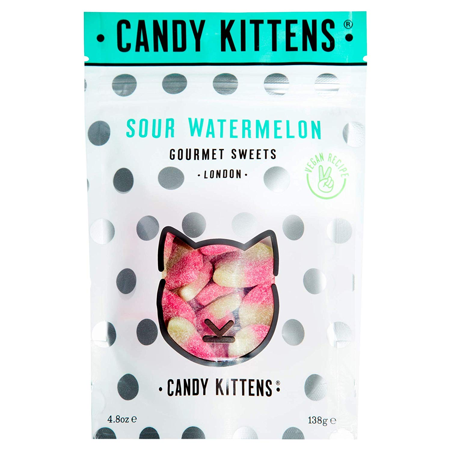 Candy Kittens Vegan Sweets – Gluten-Free – Natural Fruit Flavour Candy 138g(add-on item)