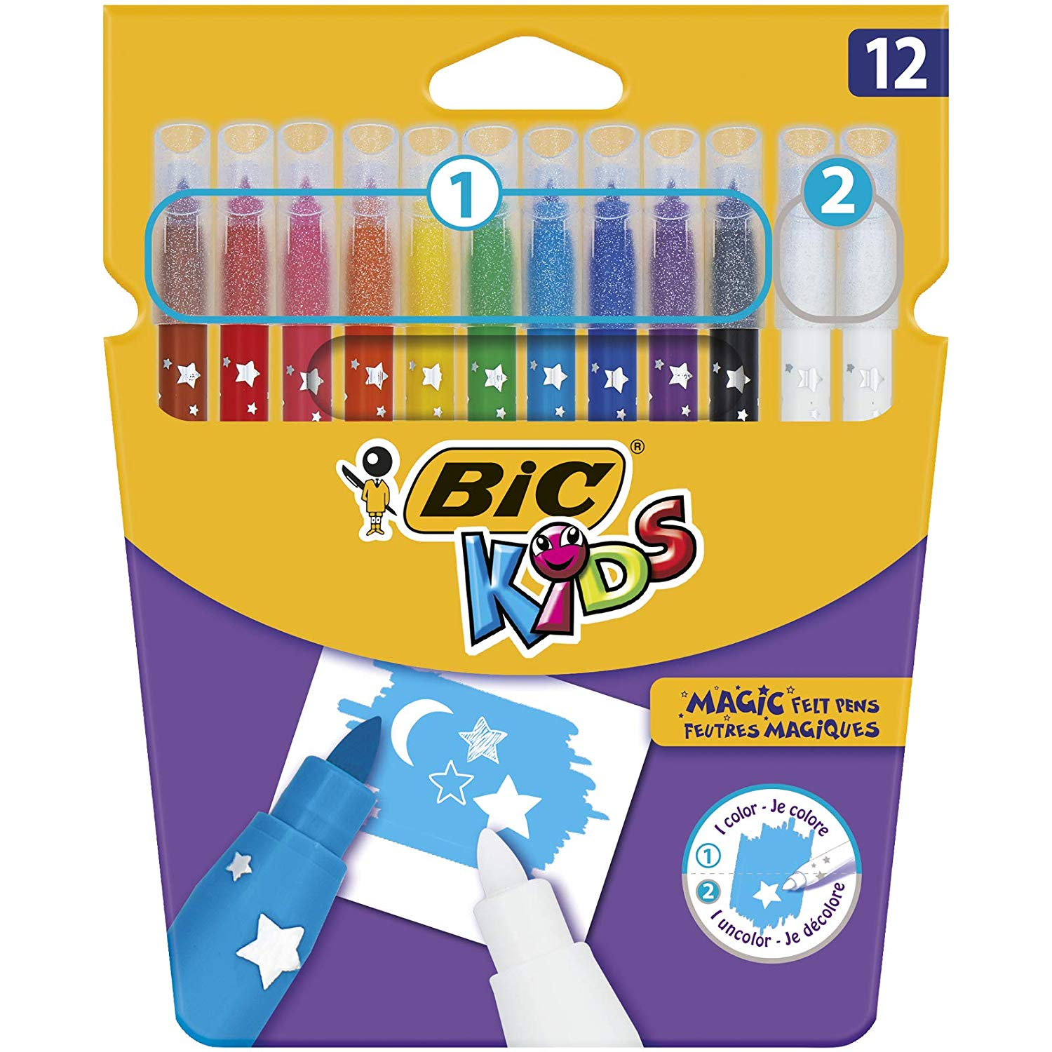 BIC Kids Magic Felt Pens – Wallet of 12 (ADD-ON ITEM)