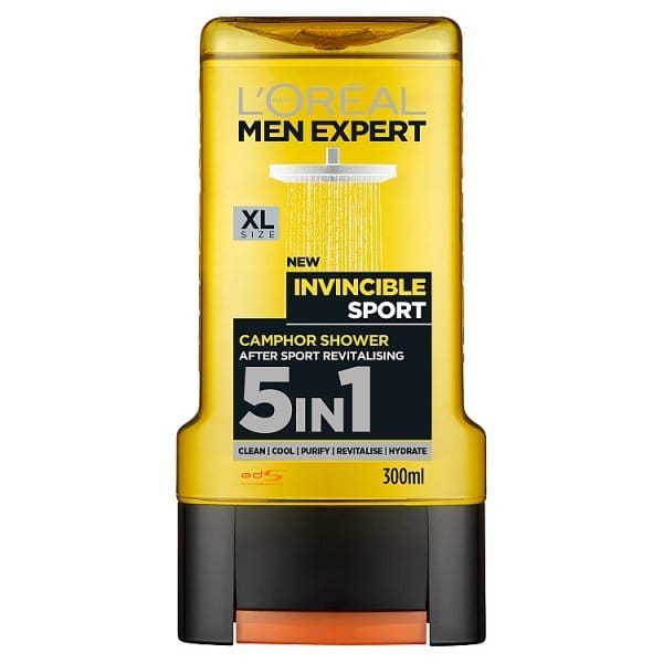 L'Oreal Men Expert Invincible Shower Gel 300ml @superdrug