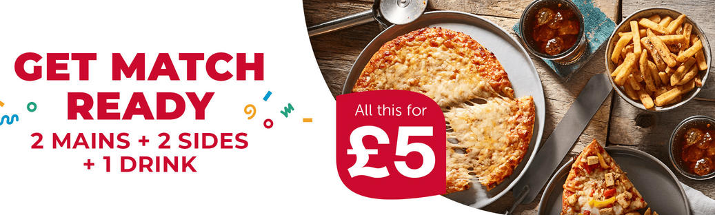 2 Mains + 2 Sizes + 1 Drink Total only £5 @iceland