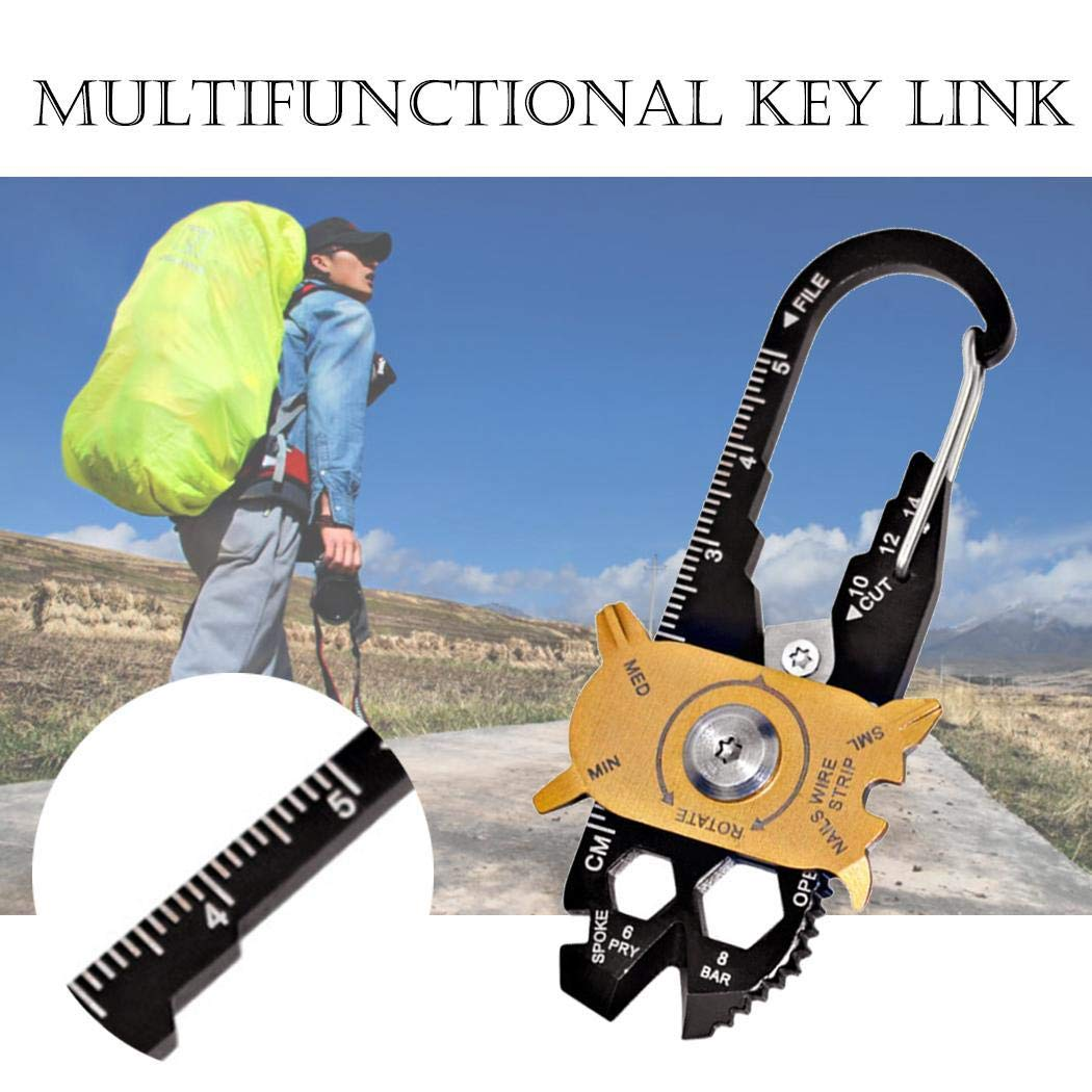 LIOPIO 20 in1 Multi-Function Pocket Tool Screwdriver Wrench Opener Survival Tool Multitools