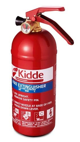 Kidde KS1KG Multi-Purpose Fire Extinguisher,1 kg (285 x 95 x 125 mm) @Amazon