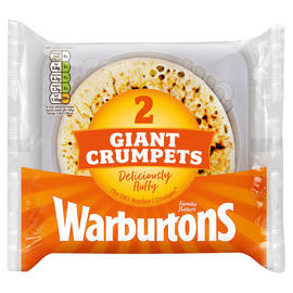 Warburtons 2 Giant Crumpets – £0.5 @Iceland