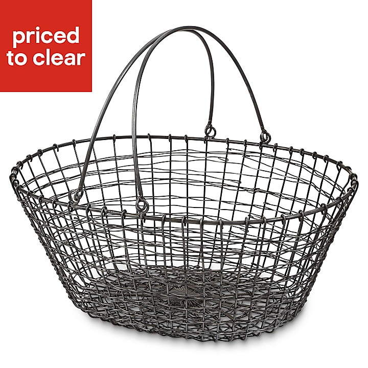 Blooma Galvanised Oval Steel wire Basket Only £1 at B&Q