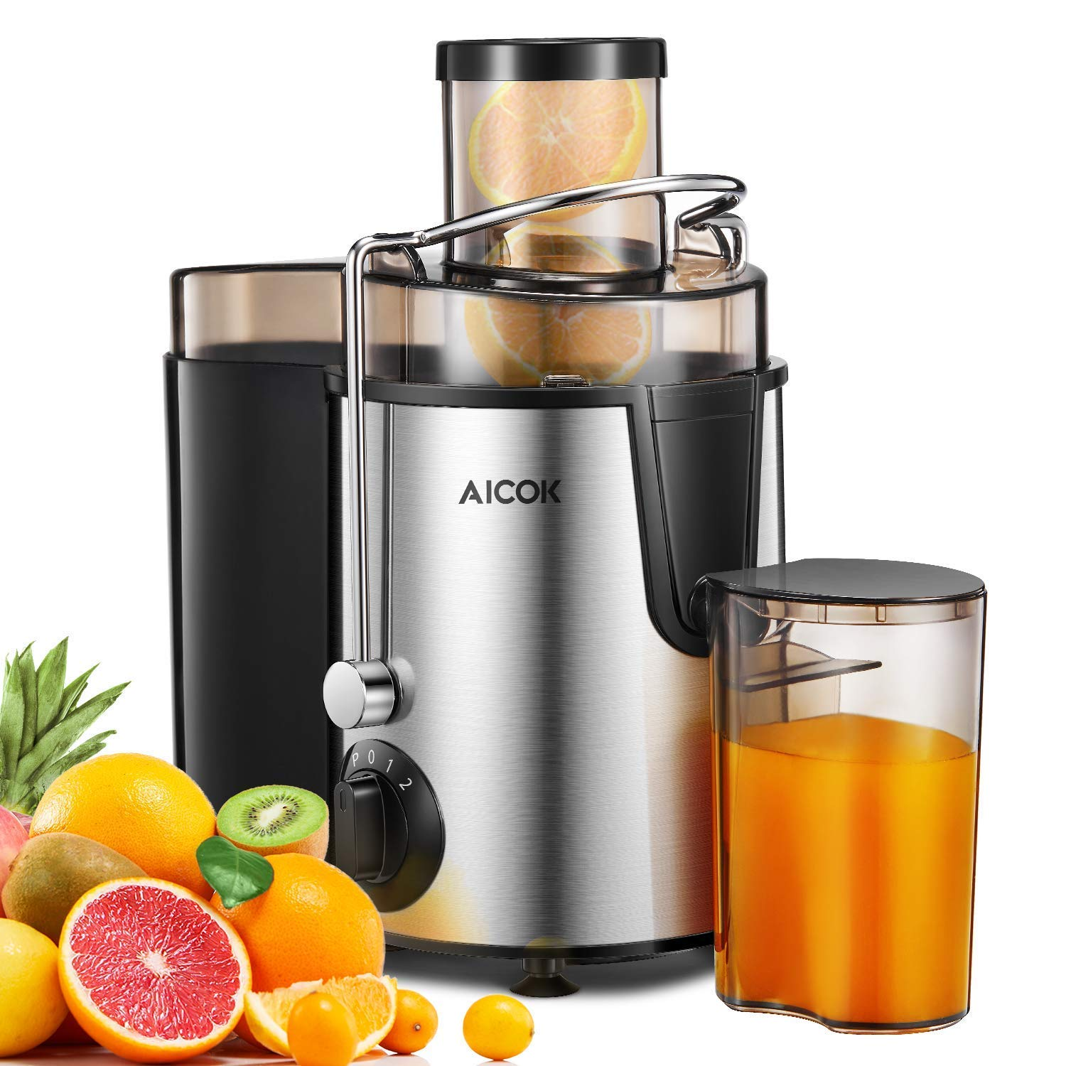 Juicer Aicok Juicer Machines for Whole Fruit and Vegetable, Juicer Juice Extractor