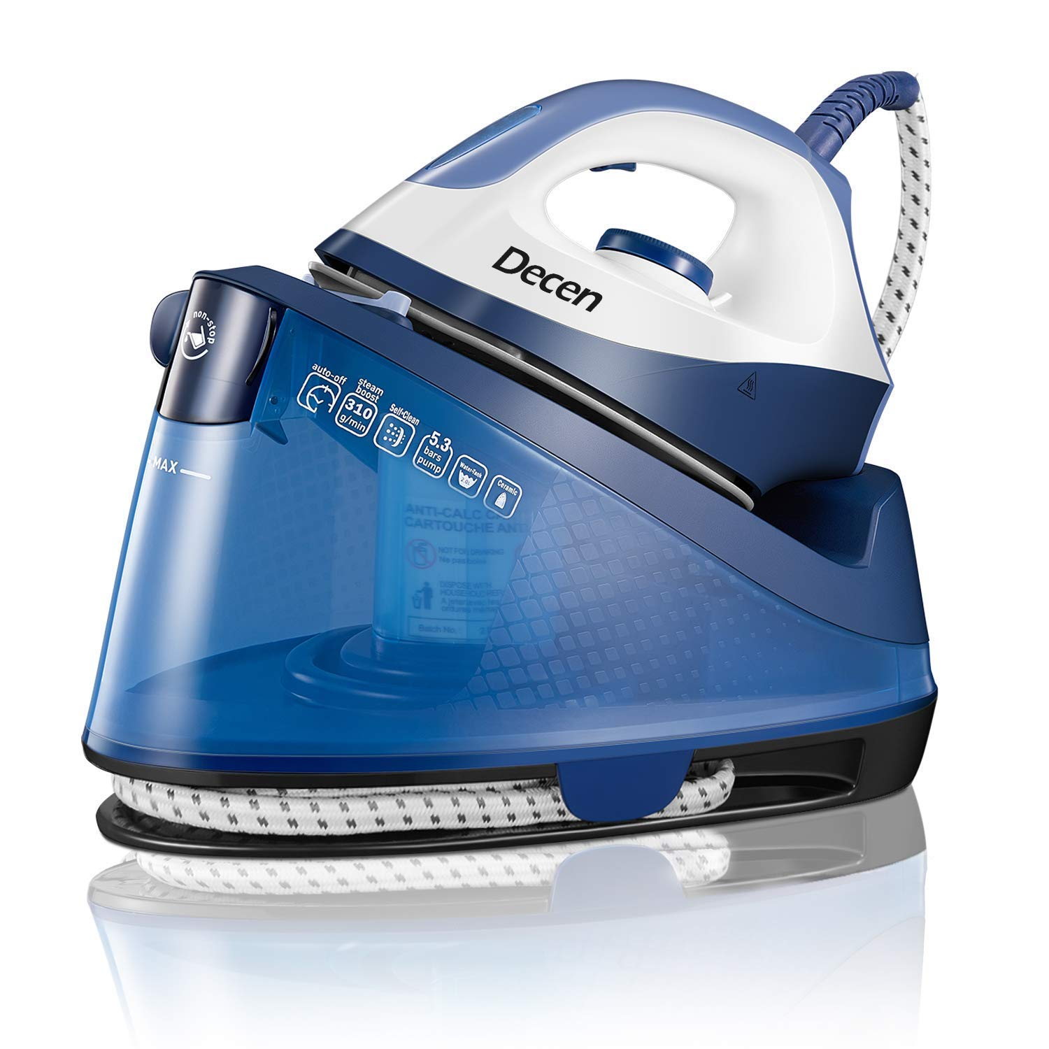 Decen Steam Generator Iron with 2 Liters Big Capacity