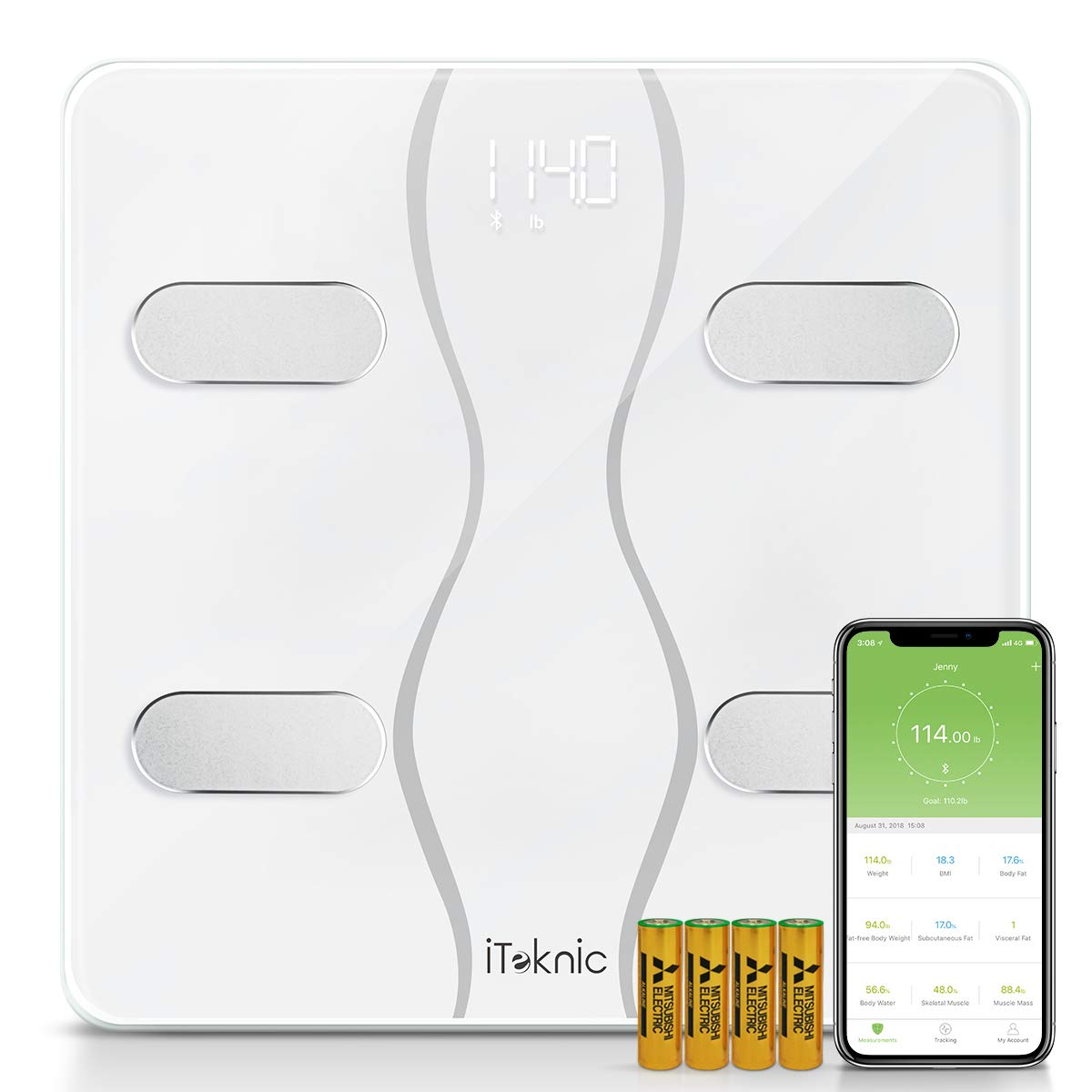 iTeknic Bluetooth Body Fat Scales