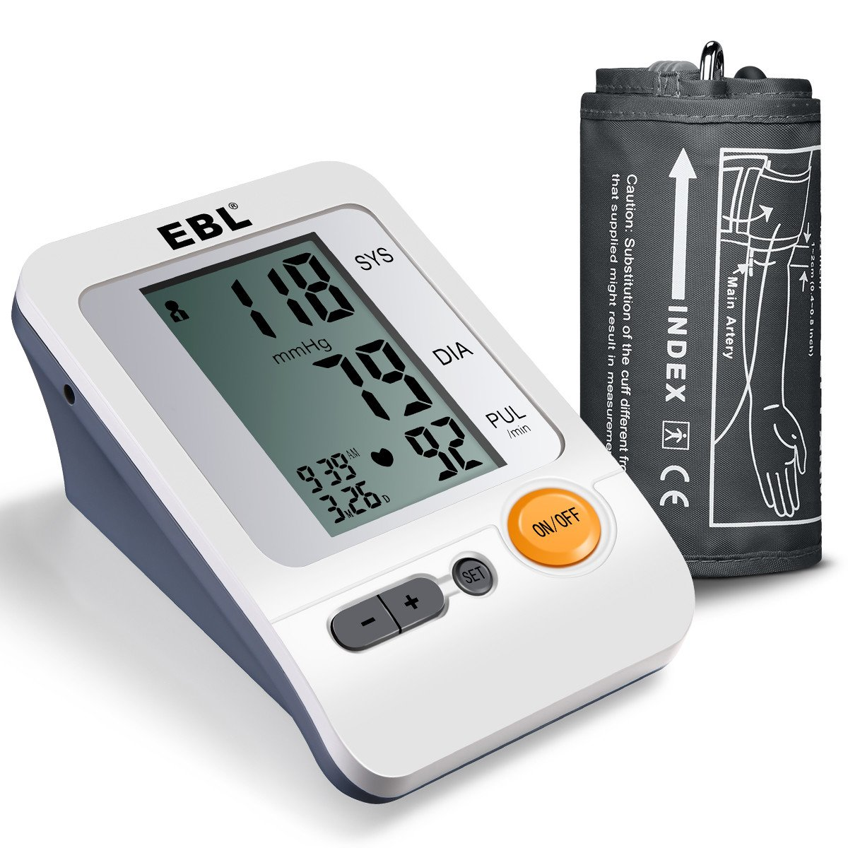 EBL Home Use Blood Pressure Monitor with Storage Bag