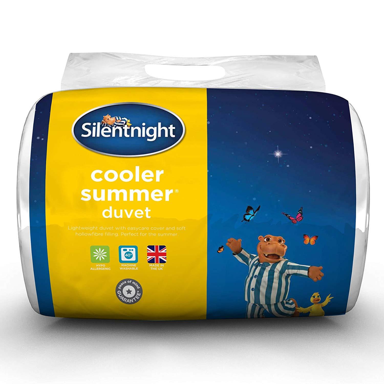 Silentnight Cooler Summer 4.5 Tog Duvet, Microfibre, King @Amazon