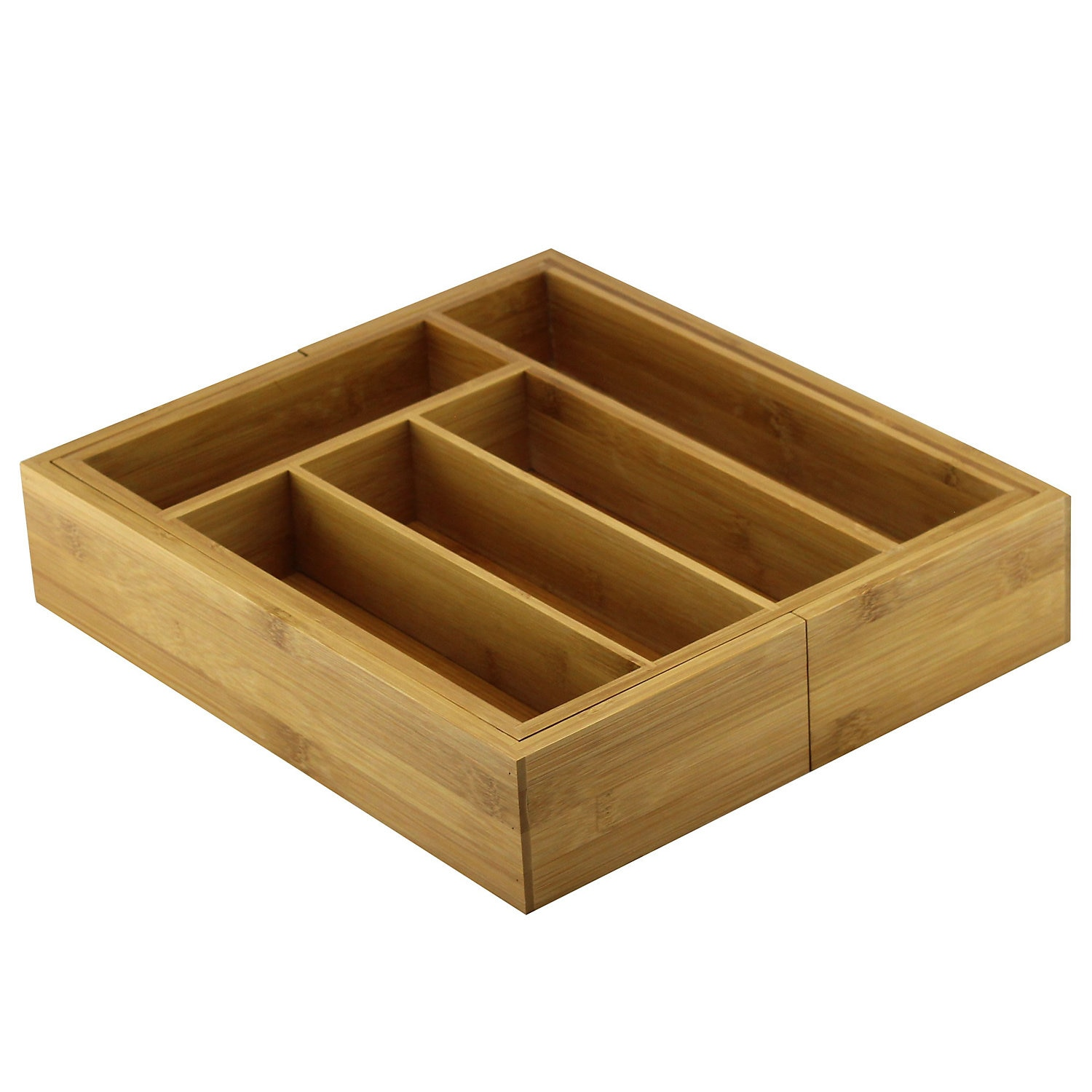 Cooke & Lewis Bamboo Extendable Cutlery Tray @B&Q