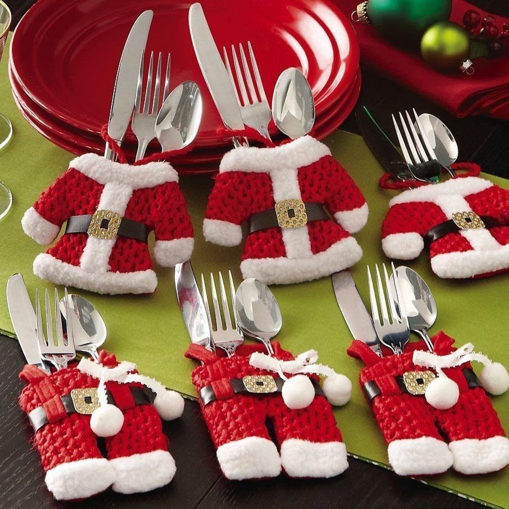 6pcs Christmas Cutlery Holders FREE delivery