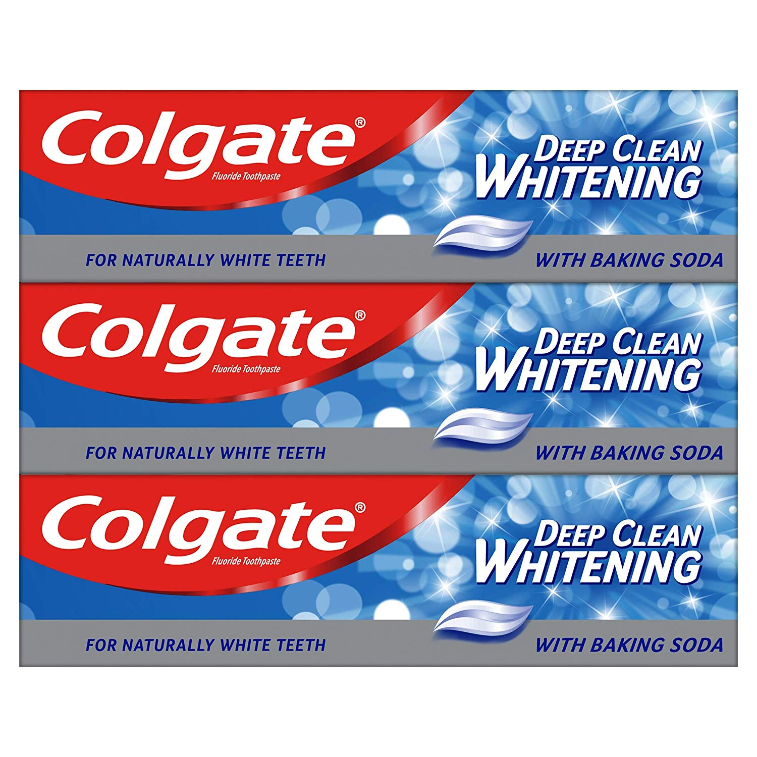 Colgate Deep Clean Whitening Toothpaste 3 x 75ml Multipack £3