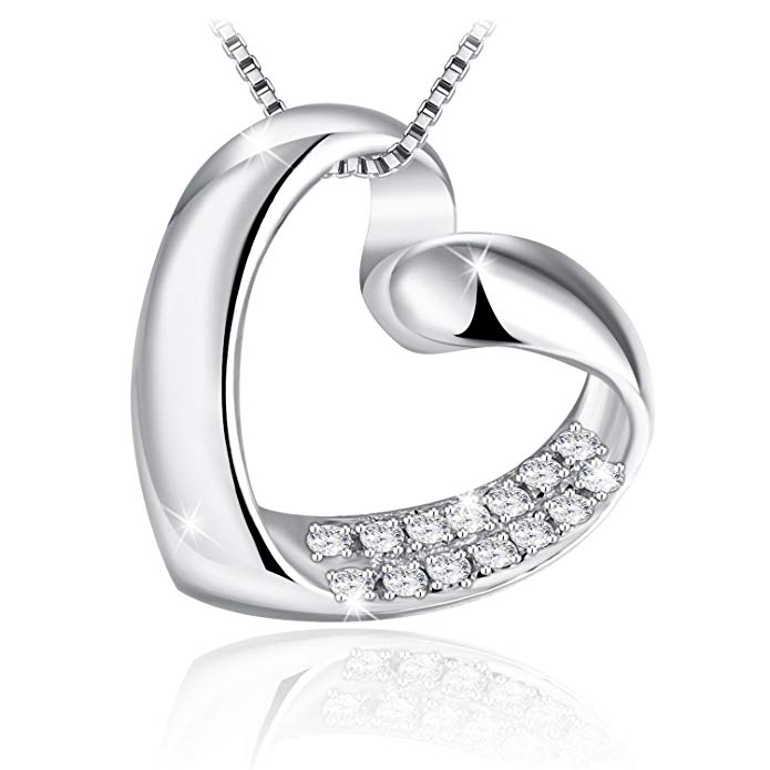 85% off J.Rosée Necklaces, Love Heart Necklace, Pendant Necklace with 925 Sterling Silver