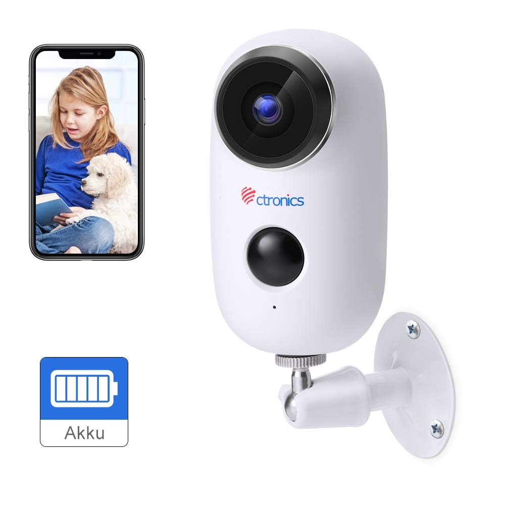 [1080P] Ctronics Security Camera with Rechargeable Battery Powered,Wireless Outdoor Indoor Wifi Camera