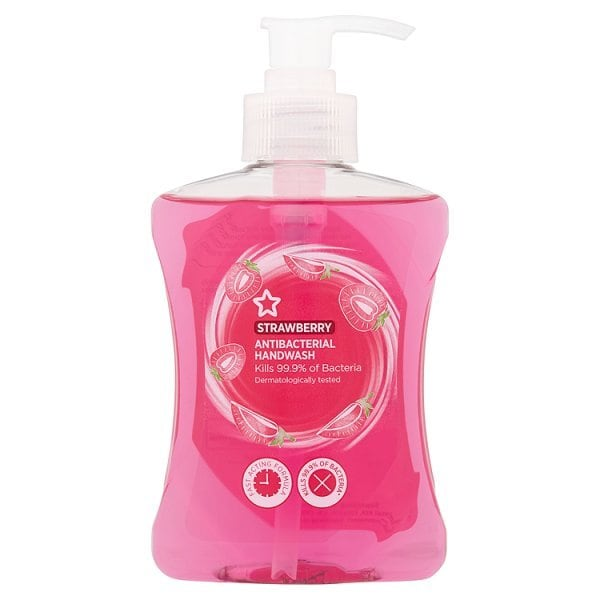 Superdrug Anti-Bacterial Strawberry Handwash 250ml £0.68