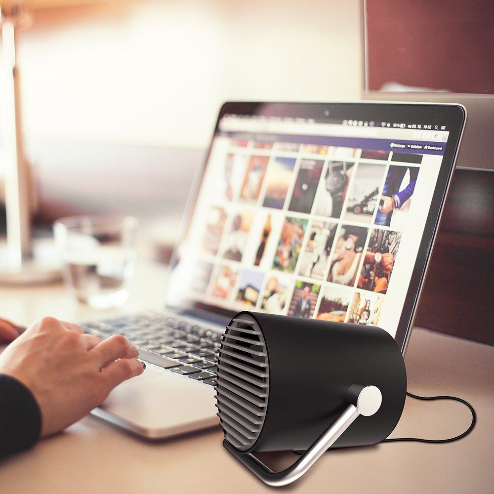 EasyAcc Small Personal USB Fan – Portable Mini Table Desk Fan