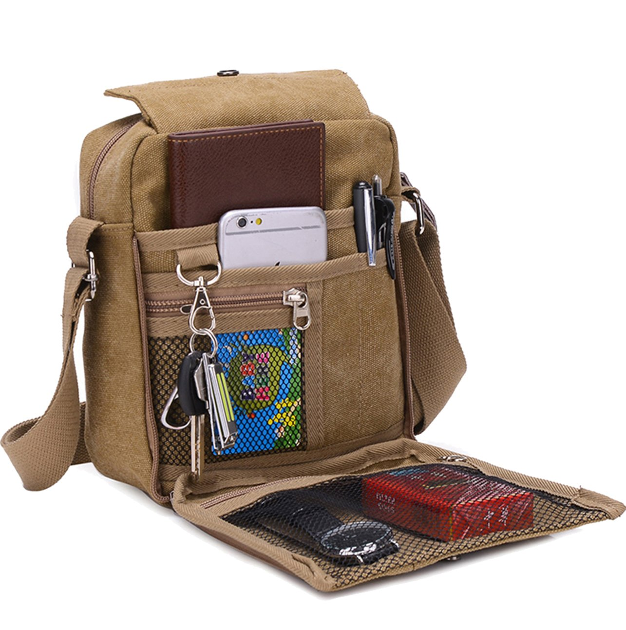 Supa Moden Man Bag Shoulder Bag Canvas Messenger Bag Retro Crossbody Bag