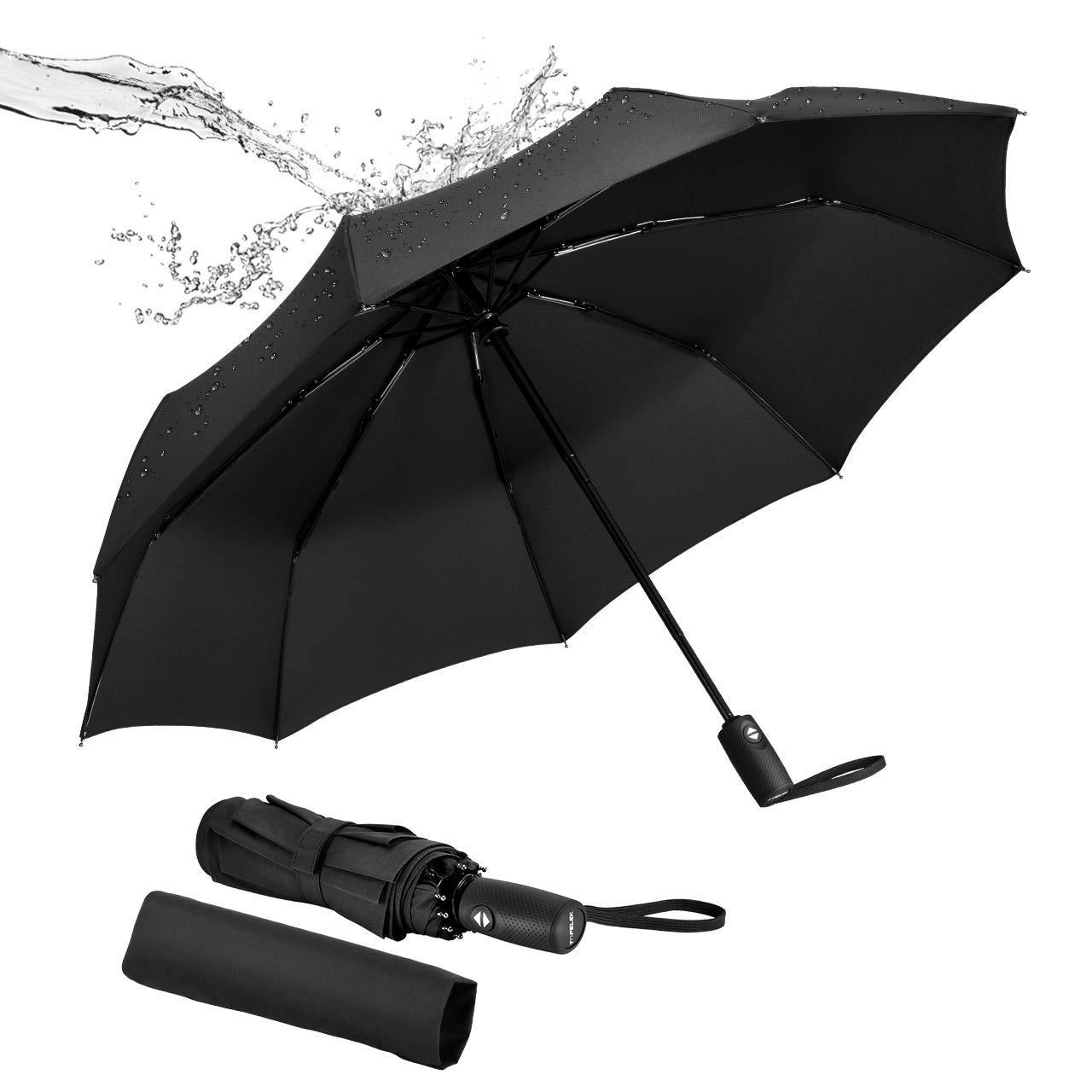 TOPELEK Windproof Umbrella, Sturdy [9 Ribs], Auto Open and Close