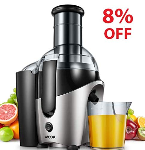 Juicer, Aicok Juice Machine with 75mm Wide Mouth, 500W Juicer Extractor
