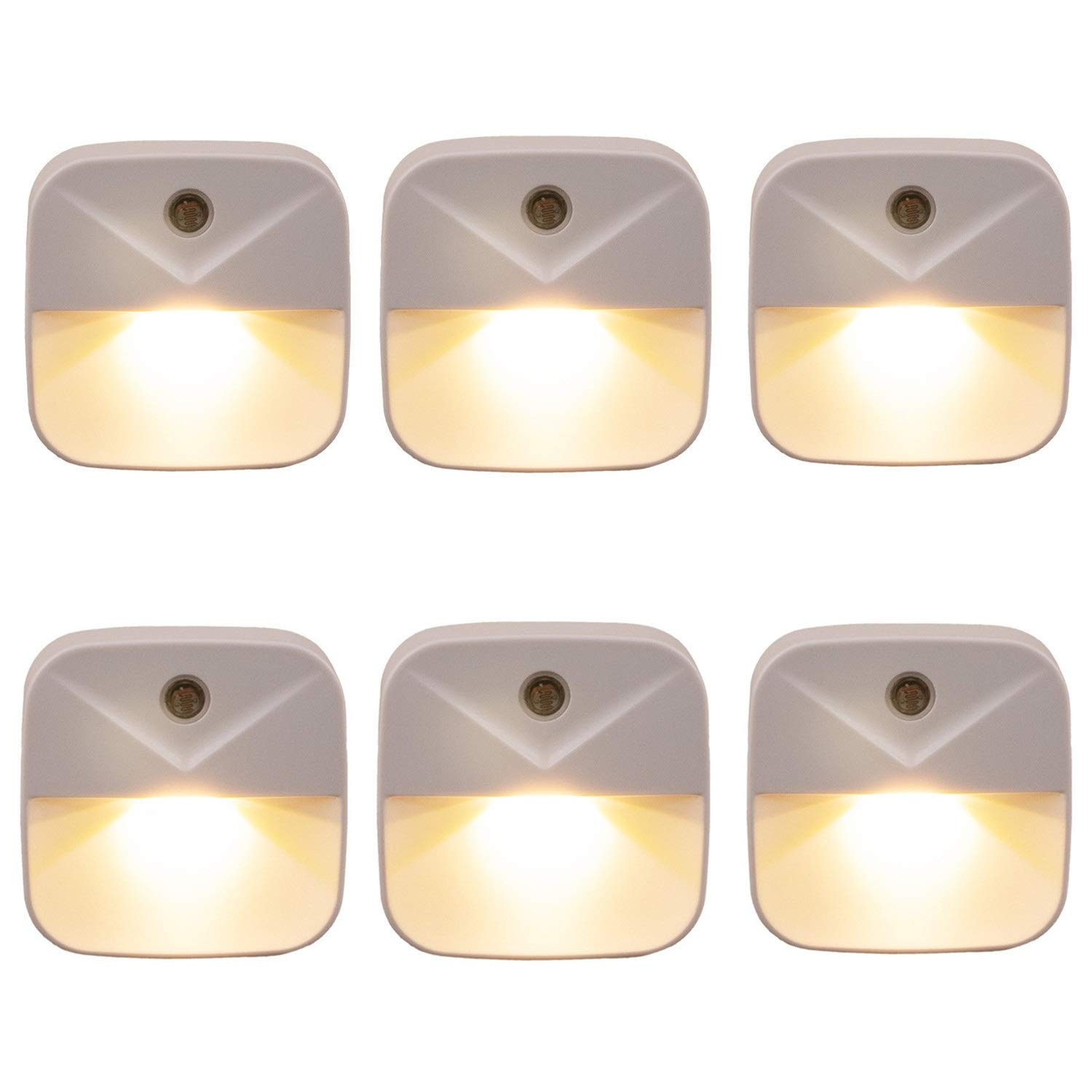 6 Pack Plug in LED Night Light, 0.4W Low Energy Lamp
