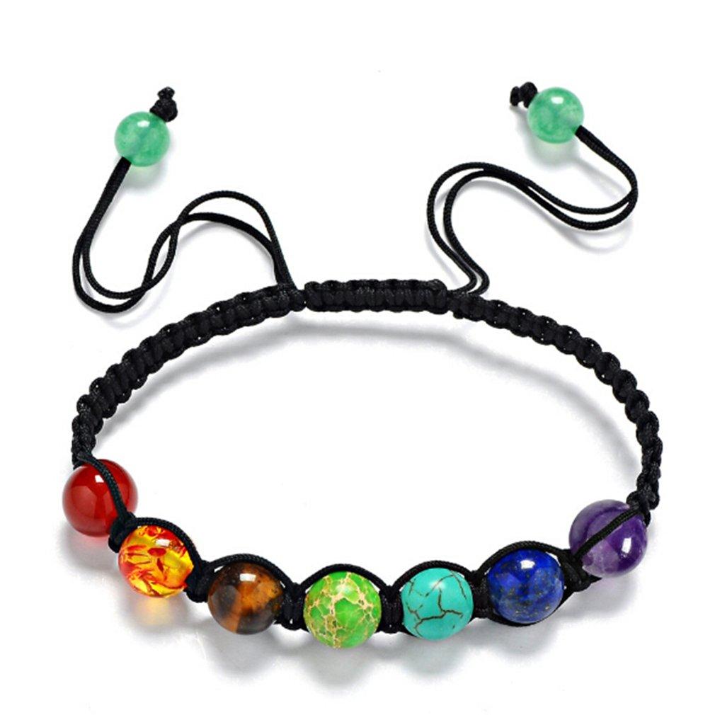 Yesiidor 7 Chakra Bracelet Reiki Rainbow Quartz Bracelet