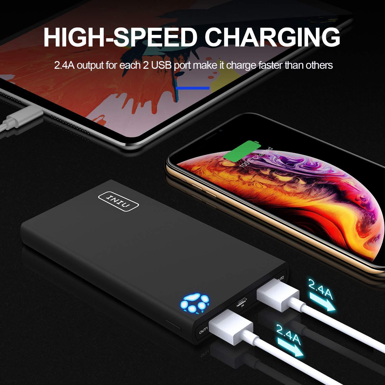 INIU Power Bank, 10000mAh Portable Phone Charge