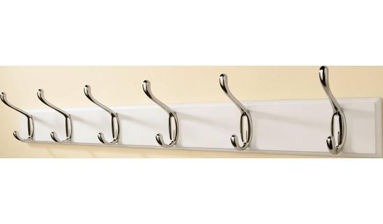 6 Double Chrome Coat Hooks for £8.49 at Argos (free C&C)
