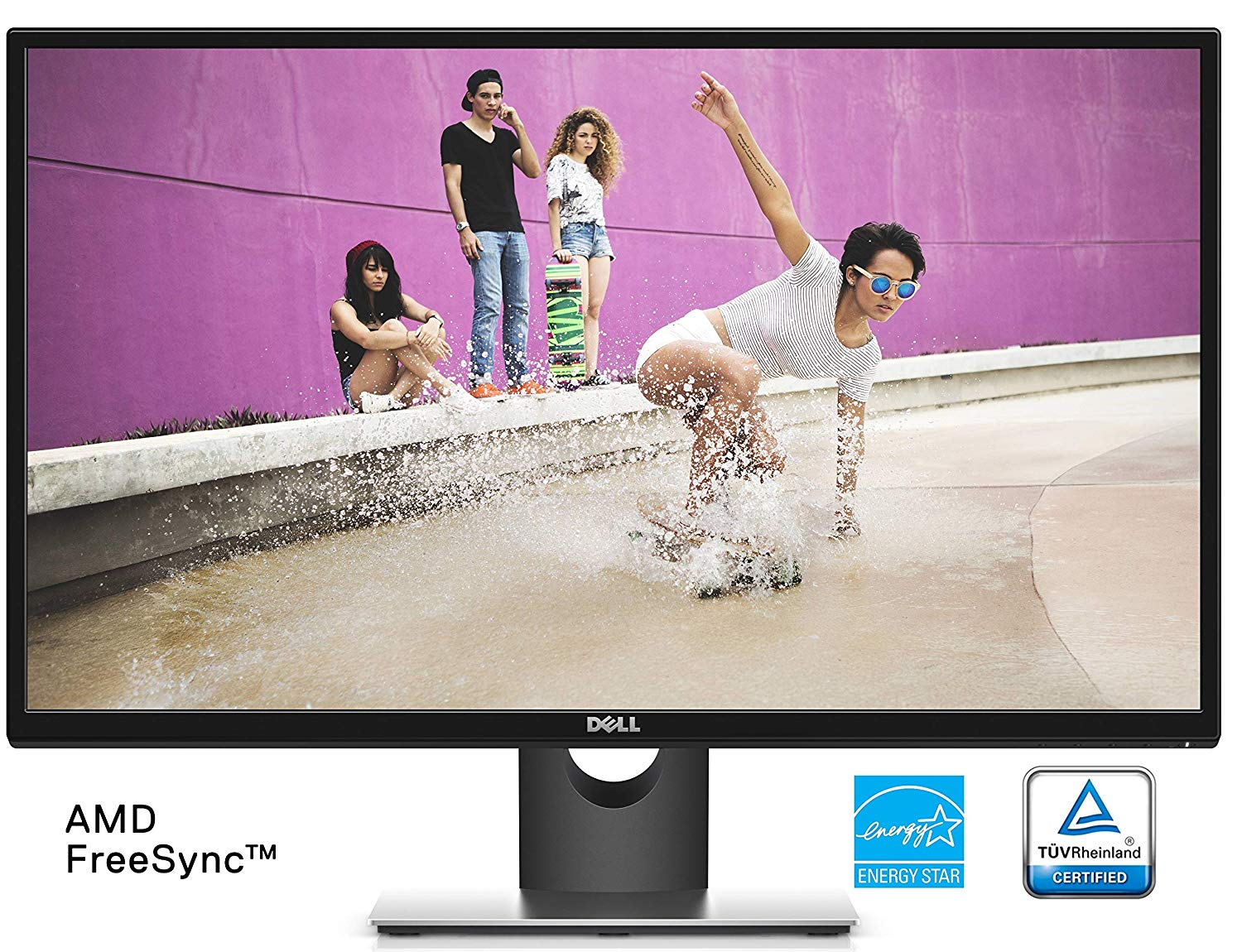 Dell SE2717H 27 Inch IPS LED-backlit LCD Monitor(6 ms, Full HD 1920 x 1080 at 75 Hz, AMD Free-Sync, VGA)