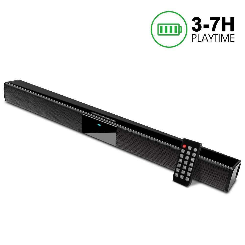 Soundbar, GooDee 2.0 Channel Speaker for TV Sound bar 22 Inch Wired & Wireless Bluetooth Speaker