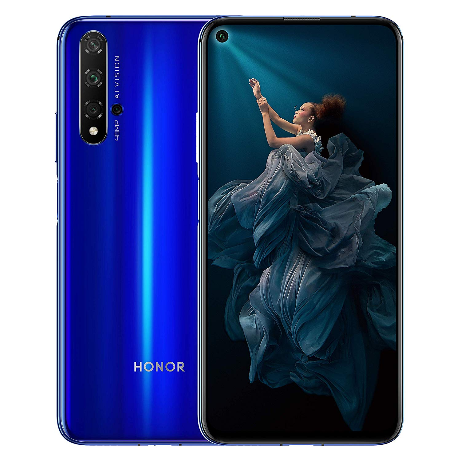 HONOR 20 Dual SIM Smartphone, 48 MP AI Quad Camera, 128 GB storage  £369.99 at Amazon