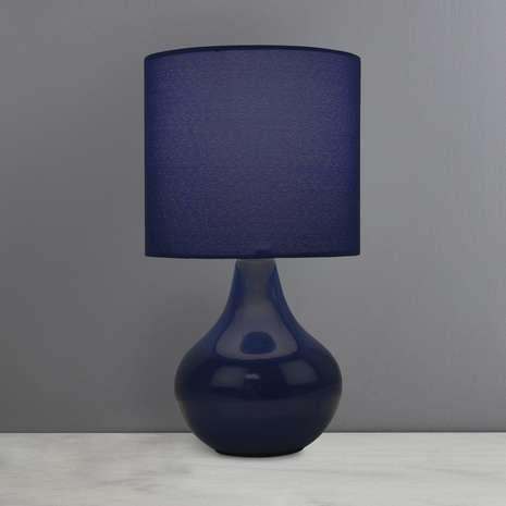 Mason Ceramic Navy Table Lamp £3.5 Free Reserve & Collect @Dunelm