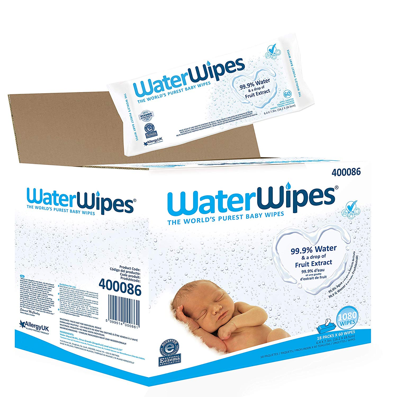 WaterWipes Baby Wipes Sensitive Newborn Skin, 1080 Wipes