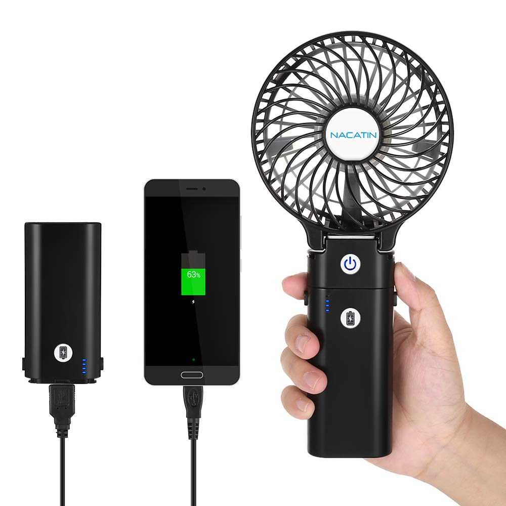 Mini Handheld Electric Fans with Rechargeable 5200 mAh Battery